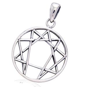 Vedhæng enneagrammet - 29mm - u/kæde fra N/A fra bog & mystik