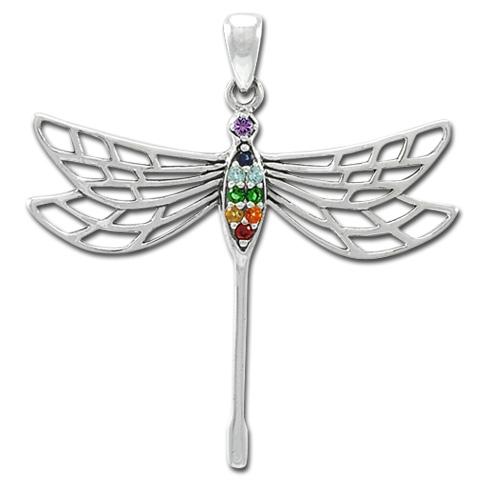 N/A Chakra dragonfly - 42mm - u/kæde fra bog & mystik