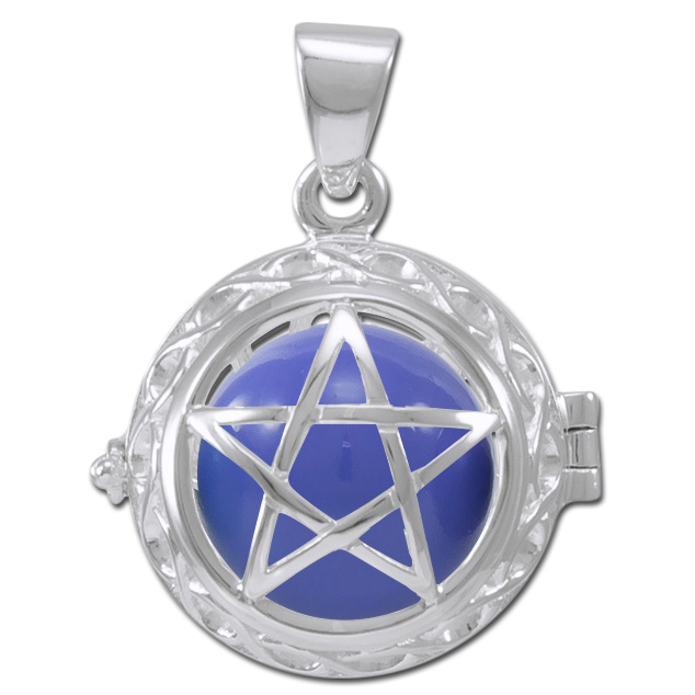 Engleklokke / harmony ball med pentagram - u/kæde fra N/A fra bog & mystik
