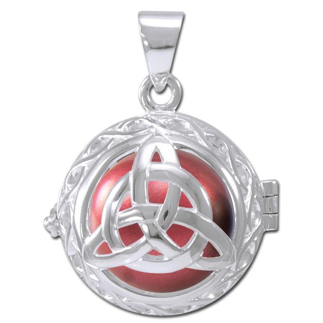 Engleklokke / harmony ball med treenighedssymbol - u/kæde fra N/A fra bog & mystik