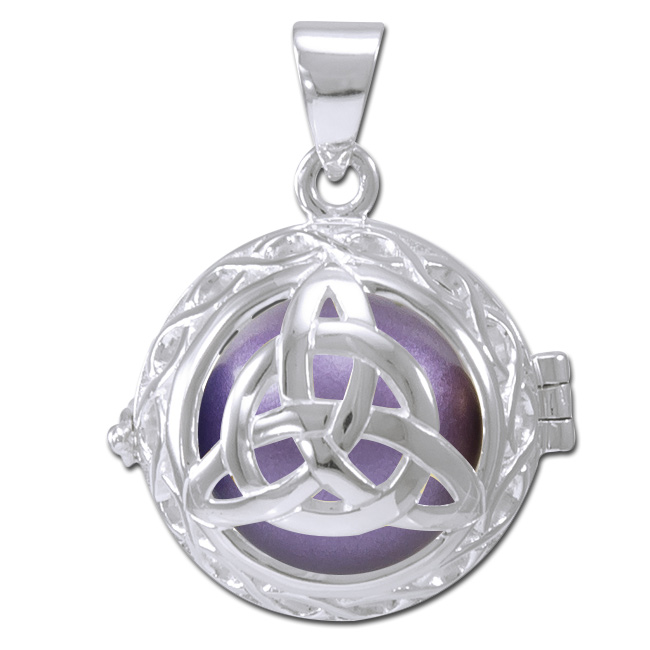 Engleklokke / harmony ball med treenighedssymbol - u/kæde fra N/A på bog & mystik