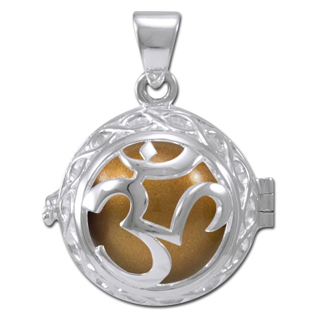 N/A Engleklokke / harmony ball med aum - u/kæde på bog & mystik