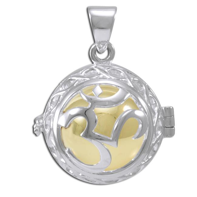 Engleklokke / harmony ball med aum - u/kæde fra N/A fra bog & mystik