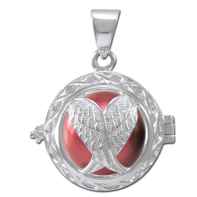 Engleklokke / Harmony ball med Englevinger - u/kæde