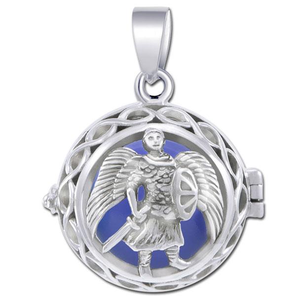 Engleklokke / harmony ball med ærkeenglen michael - u/kæde fra N/A på bog & mystik