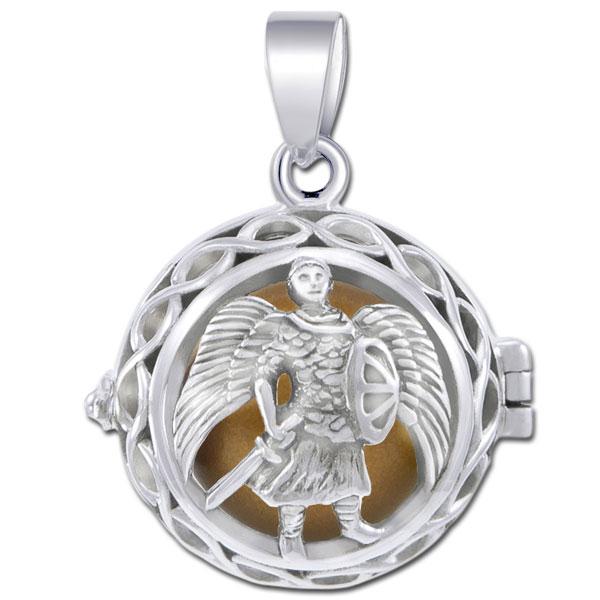 N/A – Engleklokke / harmony ball med ærkeenglen michael - u/kæde fra bog & mystik