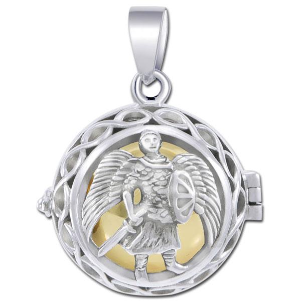 N/A – Engleklokke / harmony ball med ærkeenglen michael - u/kæde på bog & mystik