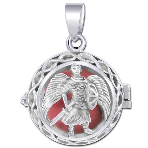 N/A Engleklokke / harmony ball med ærkeenglen michael - u/kæde fra bog & mystik