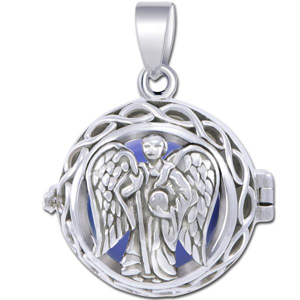 Engleklokke / harmony ball med ærkeenglen raphael - u/kæde fra N/A fra bog & mystik