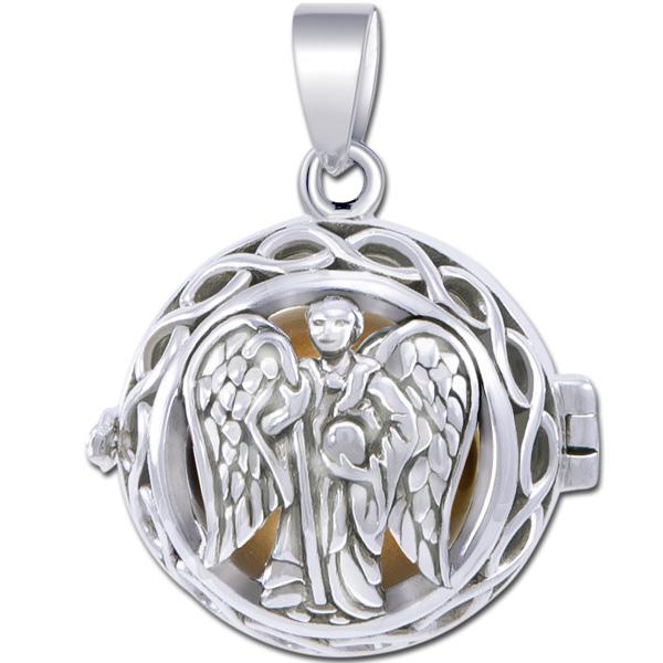 N/A Engleklokke / harmony ball med ærkeenglen raphael - u/kæde på bog & mystik