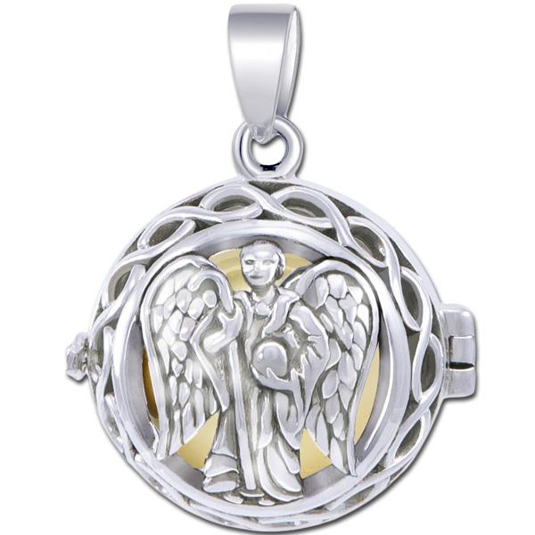 N/A – Engleklokke / harmony ball med ærkeenglen raphael - u/kæde fra bog & mystik