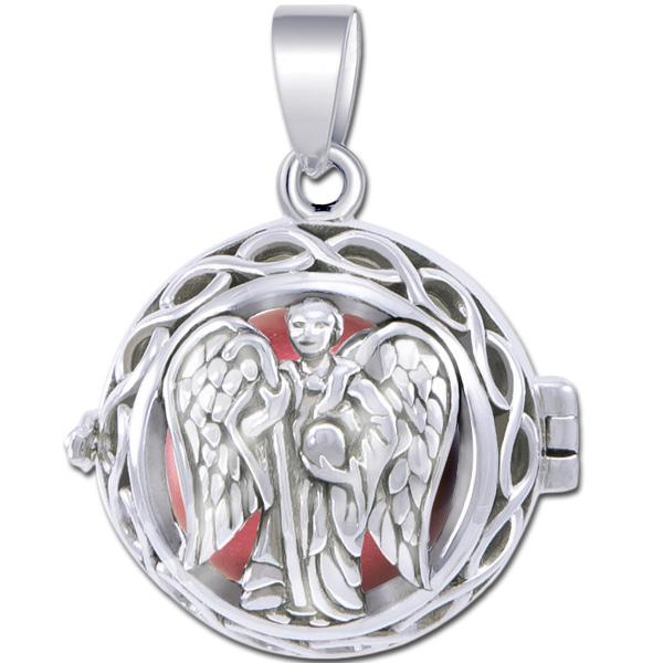 N/A – Engleklokke / harmony ball med ærkeenglen raphael - u/kæde på bog & mystik