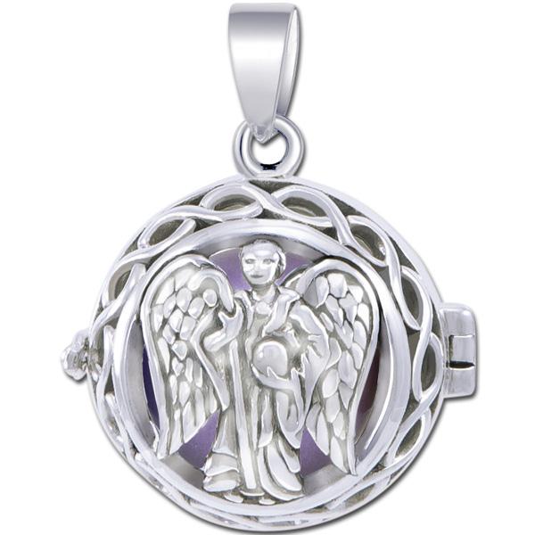 N/A Engleklokke / harmony ball med ærkeenglen raphael - u/kæde fra bog & mystik