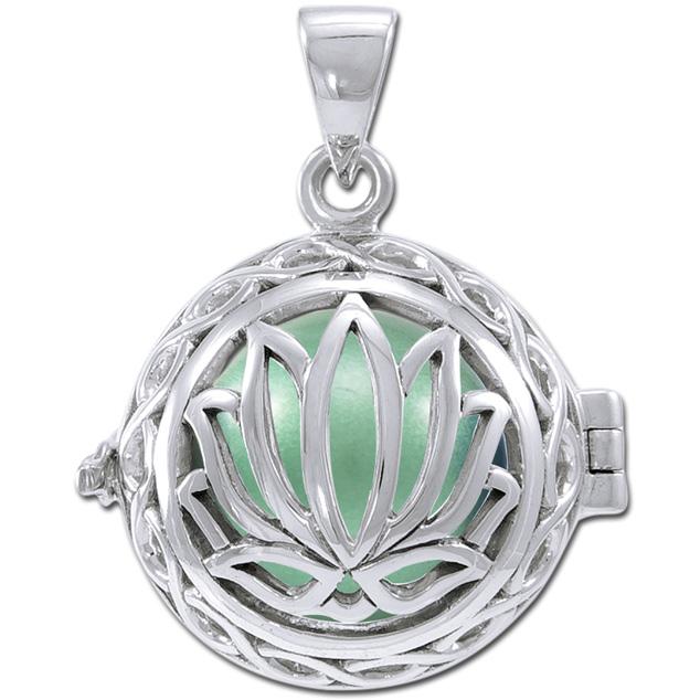 N/A – Engleklokke / harmony ball med lotus blomst - u/kæde fra bog & mystik