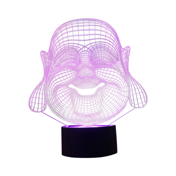 Lampe - Nat lys med Buddha