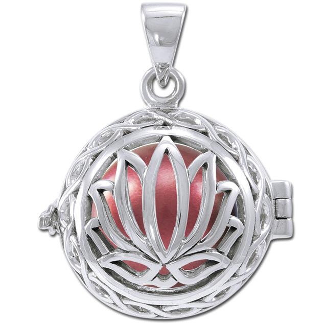 Engleklokke / harmony ball med lotus blomst - u/kæde fra N/A fra bog & mystik