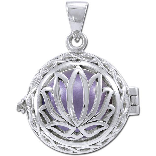 Engleklokke / harmony ball med lotus blomst - u/kæde fra N/A på bog & mystik